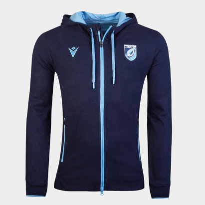 Macron Cardiff Blues 20/21 Training Hoodie Mens