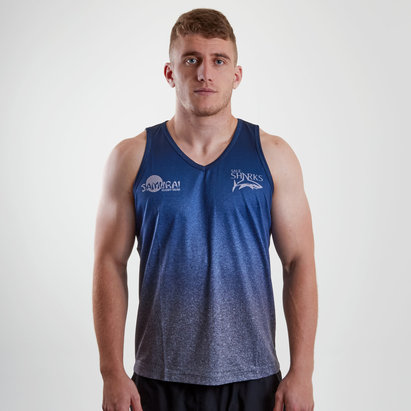 Samurai Sale Sharks 2018/19 Players Rugby Training Singlet
