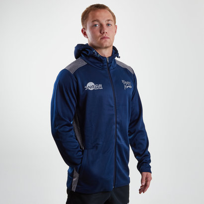 Samurai Sale Sharks 2018/19 Players Hooded Rugby Sweat