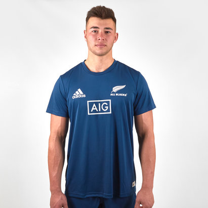 adidas New Zealand All Blacks 2019/20 Parley Players Rugby Training T-Shirt