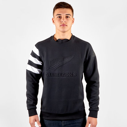 adidas New Zealand All Blacks 2019/20 Rugby Crew Neck Sweatshirt