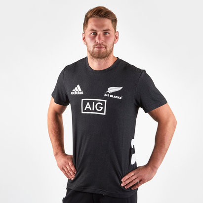 adidas New Zealand All Blacks 2019/20 Rugby Performance T-Shirt