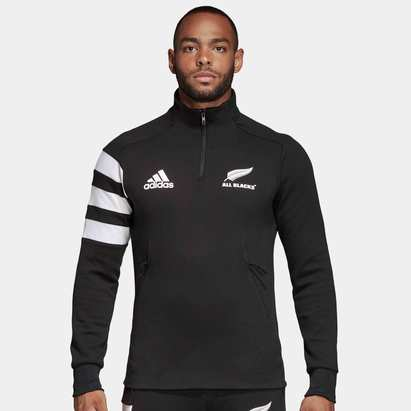 adidas New Zealand All Blacks 2019/20 1/4 Zip Rugby Fleece