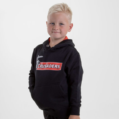 Brandco Crusaders 2018 Kids Graphic Super Rugby Hooded Sweat