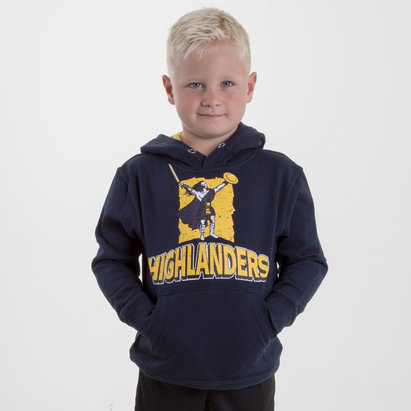 Brandco Highlanders 2018 Kids Graphic Super Rugby Hooded Sweat