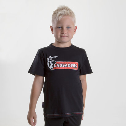 Brandco Crusaders 2019 Kids Graphic Super Rugby T-Shirt
