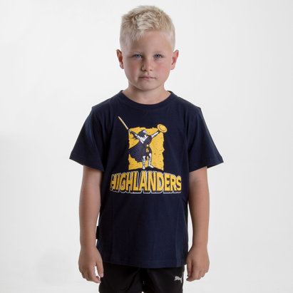 Brandco Highlanders 2018 Kids Graphic Super Rugby T-Shirt