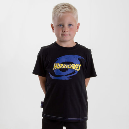 Brandco Hurricanes 2019 Kids Graphic Super Rugby T-Shirt