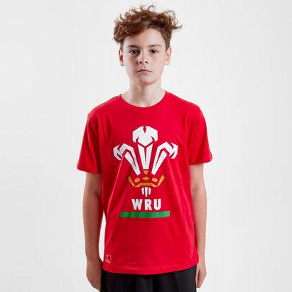 Brandco Wales WRU 2018 Kids Off Field Logo Rugby T-Shirt