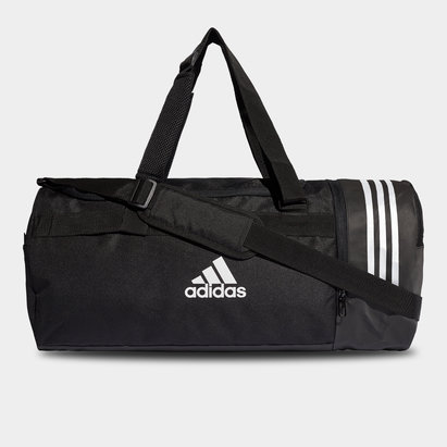 adidas Convertible 3 Stripe Medium Duffel Bag