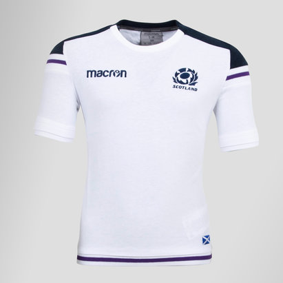Macron Scotland 2017/18 Kids Rugby Training T-Shirt