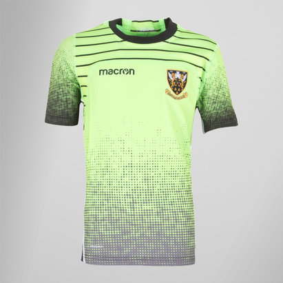 Macron Northampton Saints 2017/18 Kids S/S Rugby Training Shirt