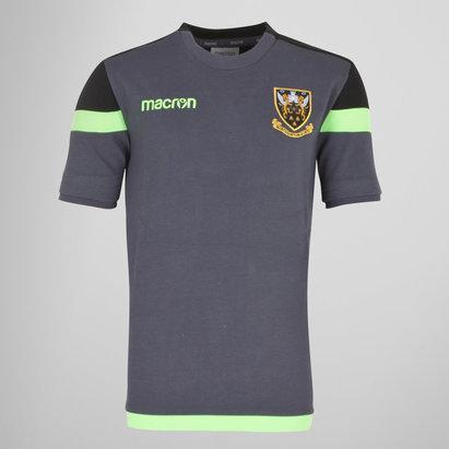 Macron Northampton Saints 2017/18 Kids Poly Travel Rugby T-Shirt