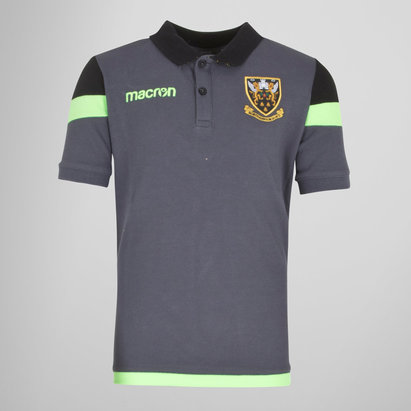 Macron Northampton Saints 2017/18 Kids Travel Rugby Polo Shirt
