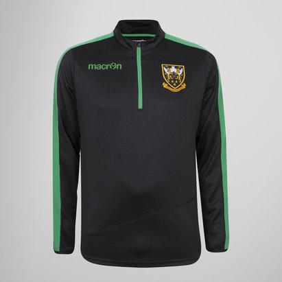 Macron Northampton Saints 2017/18 Kids 1/4 Zip Rugby Jacket
