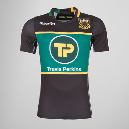 Macron Northampton Saints 2017/18 Players Warm Up Rugby Shirt