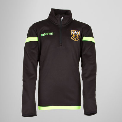 Macron Northampton Saints 17/18 Kids 1/4 Zip Rugby Jacket