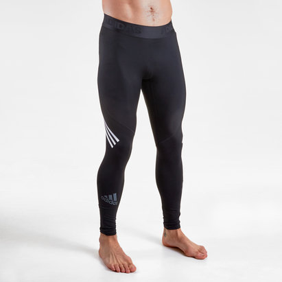 adidas Alpha Skin SPR Mens 3 Stripe Long Tights