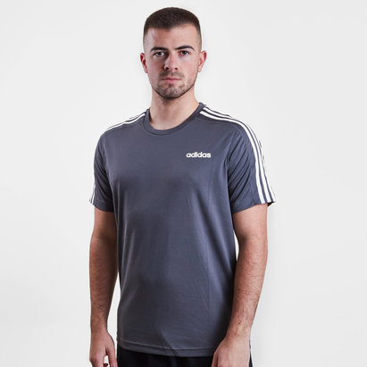 adidas D2M 3 Stripe Core Training T-Shirt