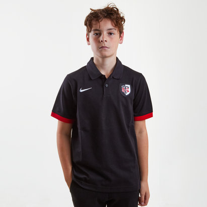 Nike Toulouse 2017/18 Kids Pique Rugby Polo Shirt