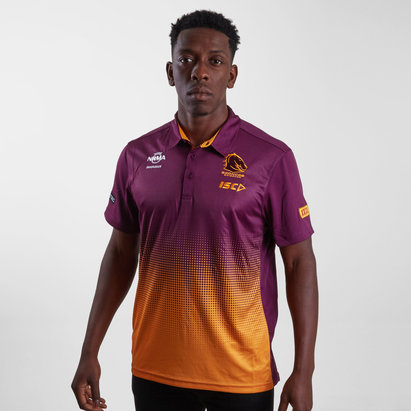 ISC Brisbane Broncos NRL 2019 Players Rugby Polo Shirt