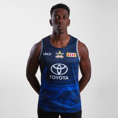 ISC North Queensland Cowboys NRL 2019 Players Rugby Training Singlet