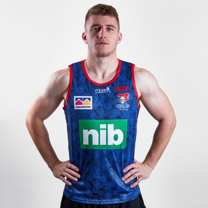 ISC Newcastle Knights NRL 2019 Players Rugby Training Singlet