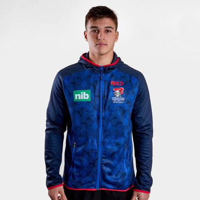 ISC Newcastle Knights NRL 2019 Players Hooded Rugby Sweat