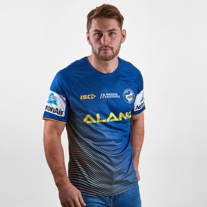 ISC Parramatta Eels 2019 NRL Players Rugby Training T-Shirt