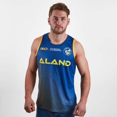 ISC Parramatta Eels 2019 NRL Players Rugby Training Singlet