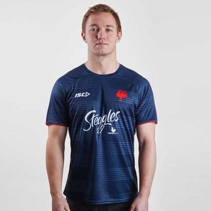 ISC Sydney Roosters NRL 2019 Players Rugby Training T-Shirt