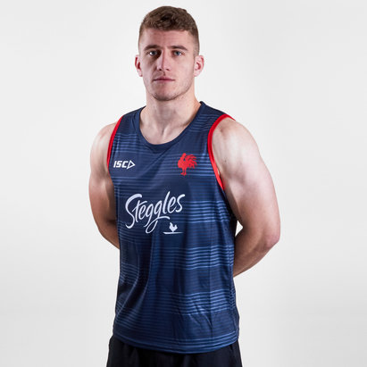 ISC Sydney Roosters NRL 2019 Players Rugby Training Singlet