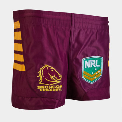 ISC Brisbane Broncos NRL Kids Supporters Rugby Shorts