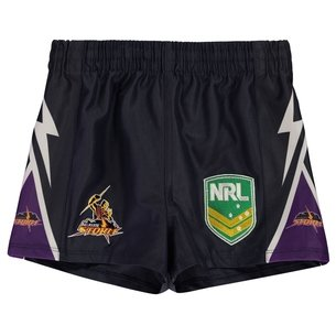 ISC Melbourne Storm NRL Kids Supporters Rugby Shorts