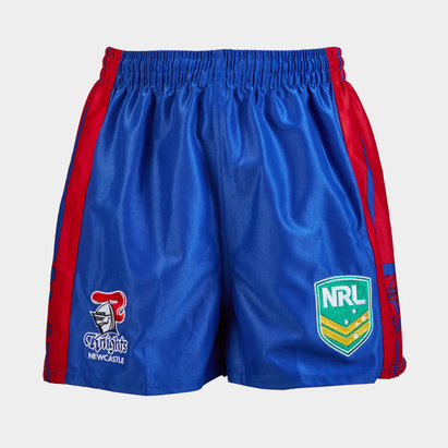 ISC Newcastle Knights NRL Kids Supporters Rugby Shorts