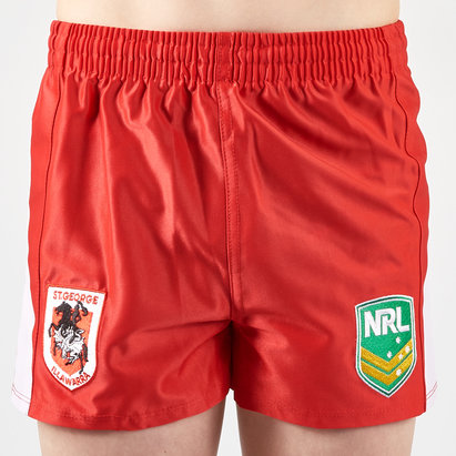 ISC St George Illawarra Dragons NRL Kids Alternate Supporters Rugby Shorts