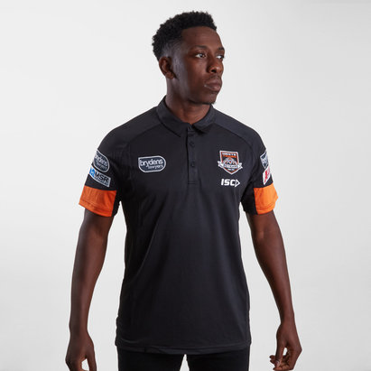 ISC Wests Tigers NRL 2019 Players Rugby Polo Shirt