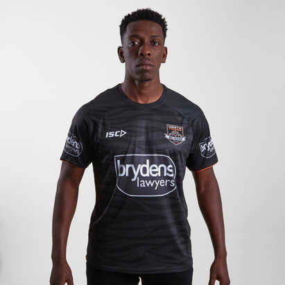 ISC Wests Tigers NRL 2019 Players Rugby Training T-Shirt