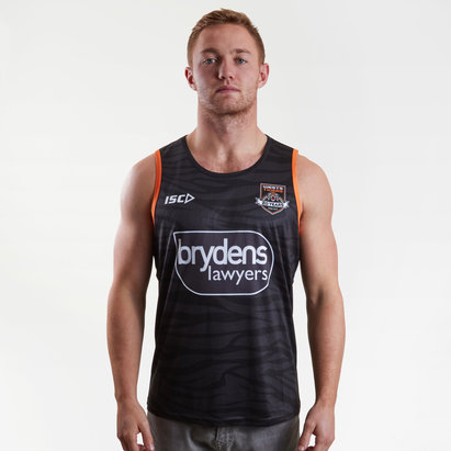 ISC Wests Tigers NRL 2019 Players Rugby Training Singlet