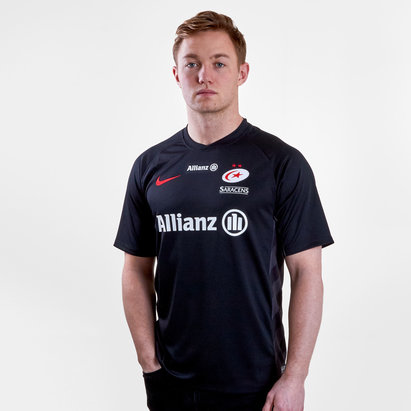 Nike Saracens 2018/19 Home S/S Rugby Shirt