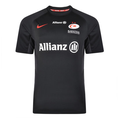 Nike Saracens 2018/19 Kids Home S/S Rugby Shirt