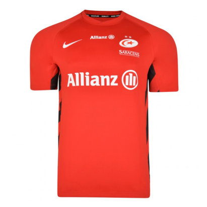 Nike Saracens 2018/19 Kids Alternate S/S Rugby Shirt
