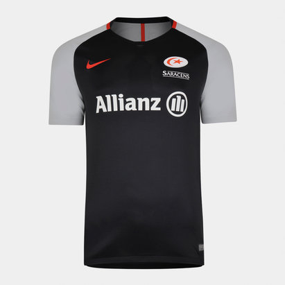 Nike Saracens 2018/19 Players Rugby Training T-Shirt
