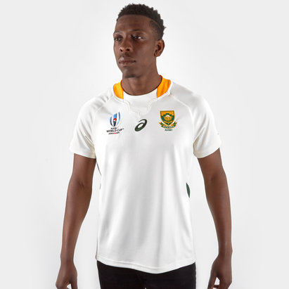 7ab2ebeb9 Asics South Africa Springboks RWC 2019 Alternate S S Replica Rugby Shirt