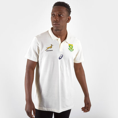 Asics South Africa Springboks RWC 2019 Players Media Rugby Polo Shirt