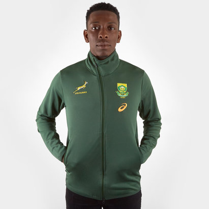 Asics South Africa Springboks RWC 2019 Players Presentation Rugby Jacket