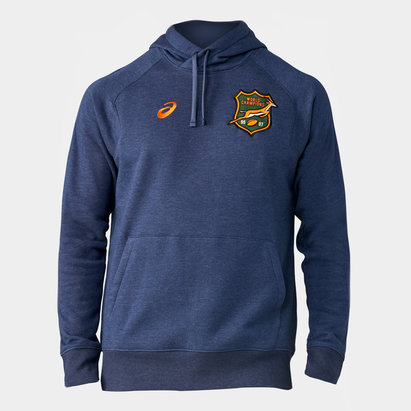 Asics South Africa Springboks 2019/20 Kids Off Field Hooded Rugby Sweat