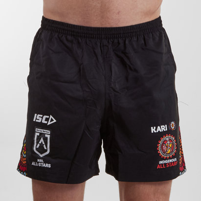 ISC Indigenous All Stars NRL 2019 Players Rugby Training Shorts
