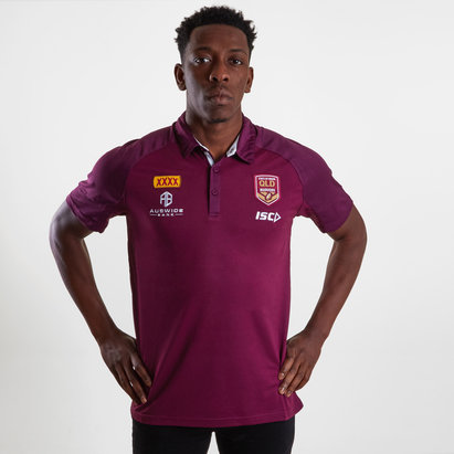ISC Queensland Maroons State of Origin 2019 Performance Rugby Polo Shirt