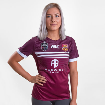 ISC Queensland Maroons State of Origin 2019 Ladies S/S Rugby League Shirt